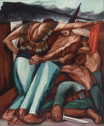 José Clemente Orozco. Barricade. 1931. Oil on canvas, 55 × 45″ (139.7 × 114.3 cm). Given anonymously. © 2016 José Clemente Orozco / Artists Rights Society (ARS), New York / SOMAAP, Mexico