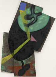 Elizabeth Murray. Beam. November 1982. Oil on canvas, four panels, 9ʹ 2ʺ × 6ʹ 3 7/8ʺ × 3 7/8ʺ (279.4 × 193 × 10 cm). Gift of Anna Marie and Robert F. Shapiro in honor of Richard E. Oldenburg. © 2016 Estate of Elizabeth Murray / Artists Rights Society (ARS), New York