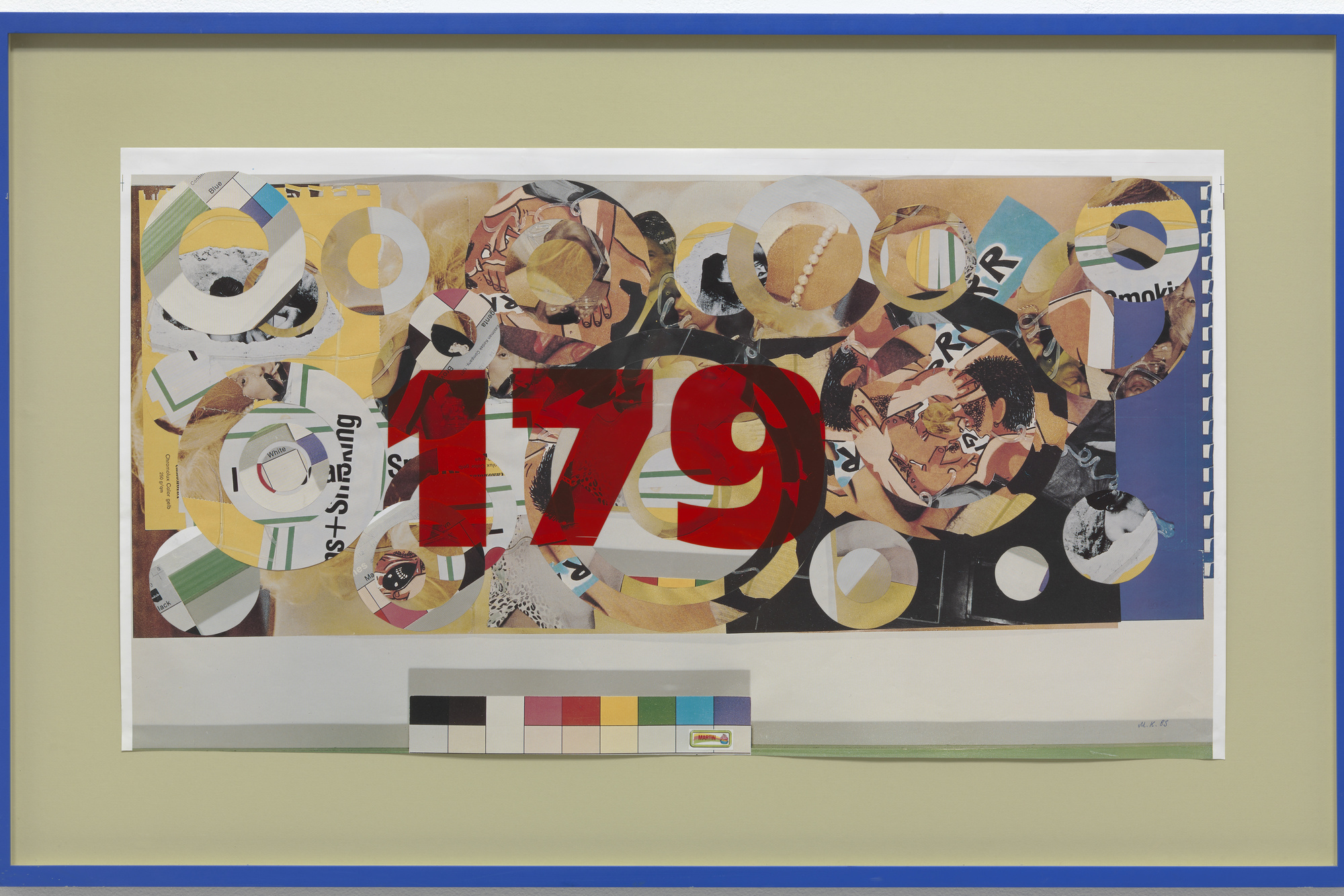 Martin Kippenberger. Untitled. 1989. Cut-and-pasted-printed paper and cut-and-pasted synthetic sheeting on photo offset lithograph in artist's frame, 21 7/8 × 39 1/2ʺ (55.5 × 99.8 cm). Gift of Walter Bareiss. © 2016 Estate Martin Kippenberger, Galerie Gisela Capitain, Cologne