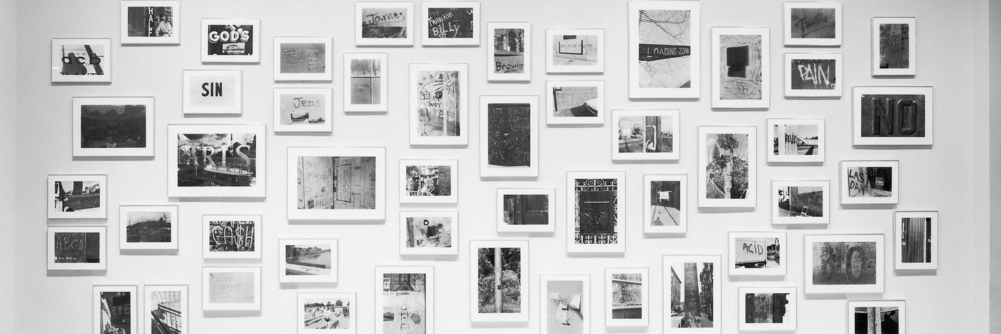 Installation view of Lee Friedlander: Letters from the People at The Museum of Modern Art, New York. Photo: Mali Olatunji