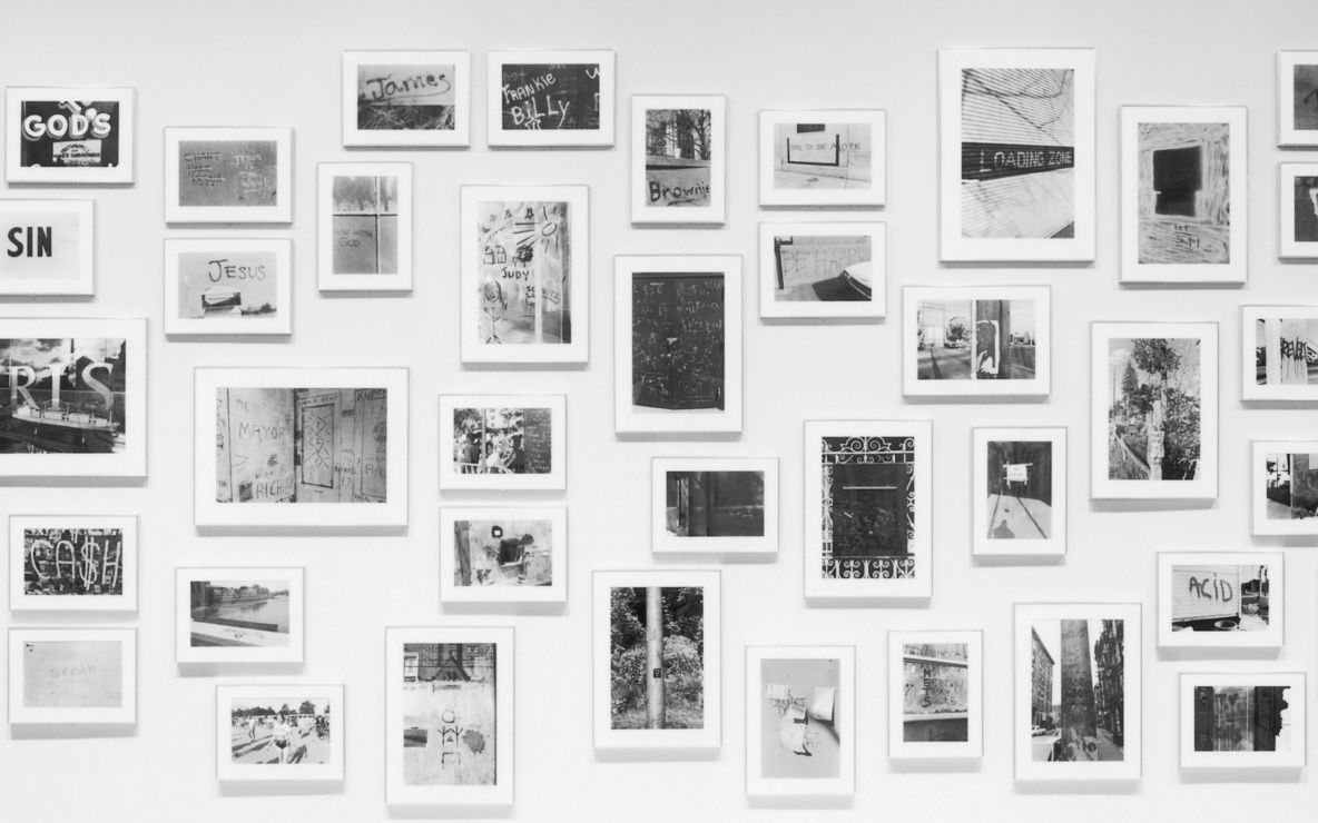 Installation view of *Lee Friedlander: Letters from the People* at The Museum of Modern Art, New York. Photo: Mali Olatunji