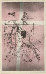 Paul Klee. *Tightrope Walker (Seiltänzer)* from the portfolio *Art of the Present (Die Kunst der Gegenwart).* 1923. Lithograph, composition: 17 1/16 × 10 5/8″ (43.4 × 27 cm); sheet: 17 15/16 × 11 1/8″ (45.6 × 28.3 cm). Publisher: Marées-Gesellschaft, R. Piper & Co., Munich. Printer: Staatliches Bauhaus, Weimar. Edition: 300. Given anonymously. © 2016 Artists Rights Society (ARS), New York / VG Bild-Kunst, Bonn