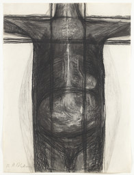 Magdalena Abakanowicz. *Body 81F.* 1981. Charcoal on paper, 39 3/8 × 29 5/8″ (100 × 75.3 cm). Gift of Edward R. Broida and Richard E. Salomon. © 2016 Magdalena Abakanowicz. Photo: Thomas Griesel