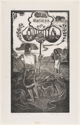 Paul Gauguin. Noa Noa (Fragrant Scent) from Noa Noa (Fragrant Scent). 1894, printed 1921. One from a series of eight woodcuts, composition: 14 × 8 1/16″ (35.5 × 20.5 cm); sheet: 16 5/8 × 10 9/16″ (42.3 × 26.8 cm). Publisher: Pola Gauguin, Copenhagen. Printer: Pola Gauguin, Copenhagen. Edition: 100. Lillie P. Bliss Collection. Photo: Thomas Griesel