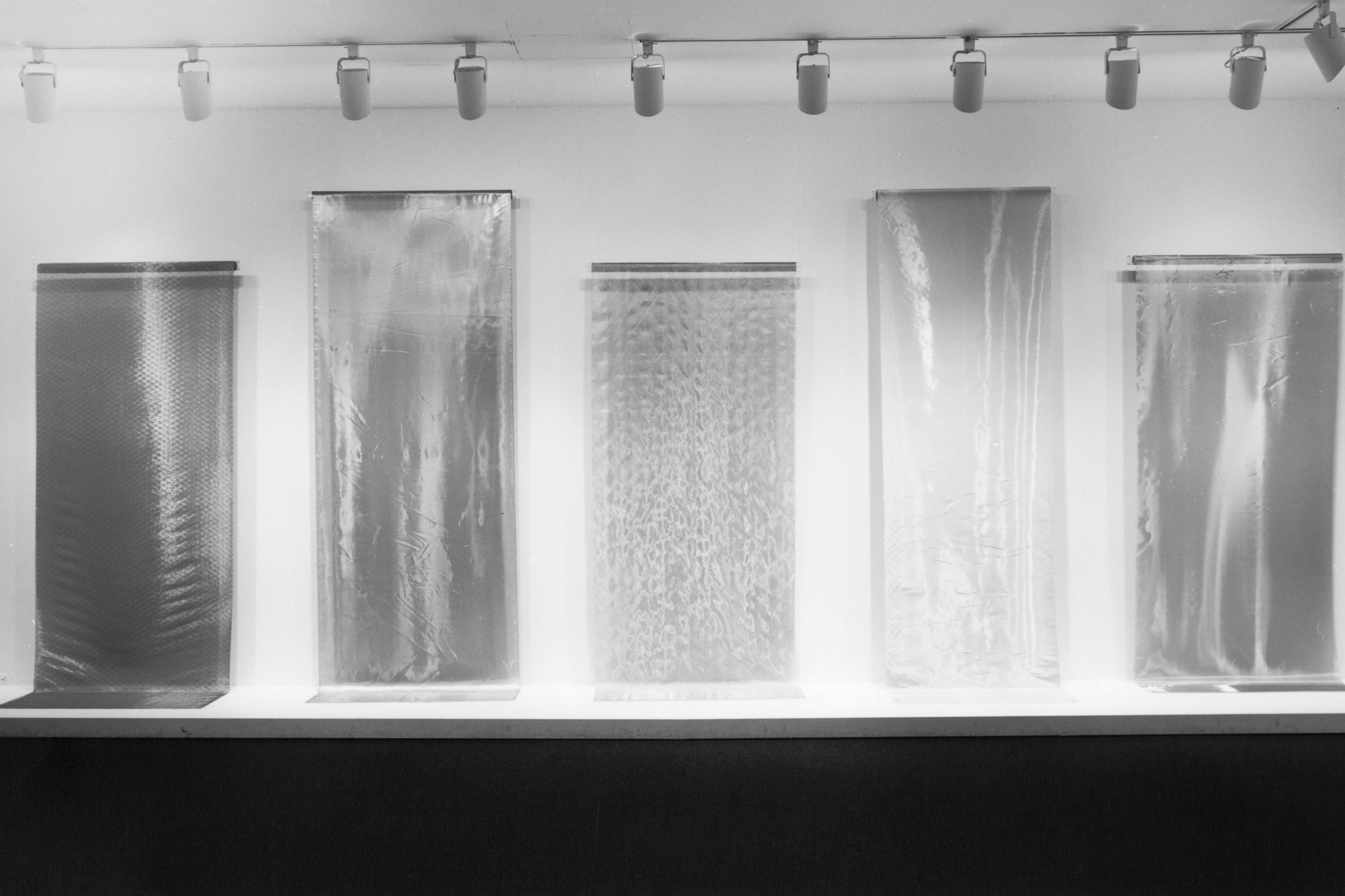 Installation view of Metallic Fabrics from the Collection at The Museum of Modern Art, New York. Photo: Mali Olatunji