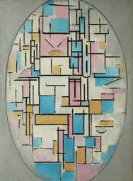 Piet Mondrian. Composition in Oval with Color Planes 1. 1914. Oil on canvas, 42 3/8 × 31″ (107.6 × 78.8 cm). Purchase