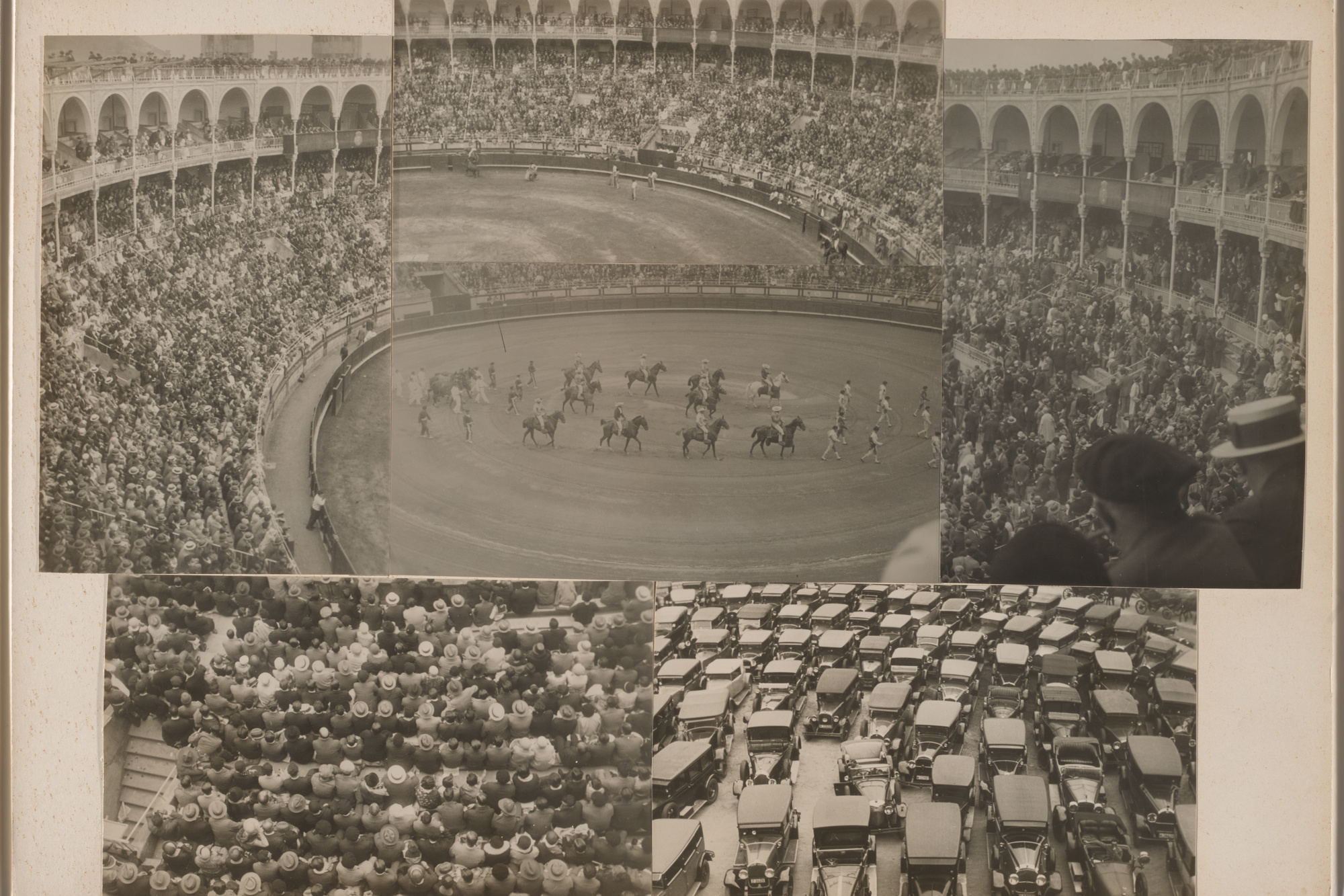 Josef Albers. Untitled (​​Bullfight​,​ San Sebastian). 1929/1932. Gelatin silver prints mounted to board. Overall 11 5/8 × 16 3/8″ (29.5 × 41.6 cm). Acquired through the generosity of Jo Carole and Ronald S. Lauder, and Jon L. Stryker Object number 1022.2015 Copyright © 2016 The Josef and Anni Albers Foundation / Artists Rights Society (ARS), New York