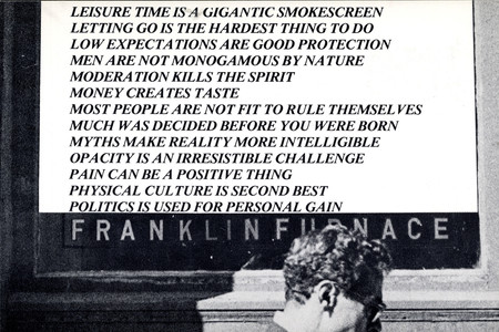 Invitation card for the exhibition <em>Truisms</em>, by Jenny Holzer at Franklin Furnace, 1978