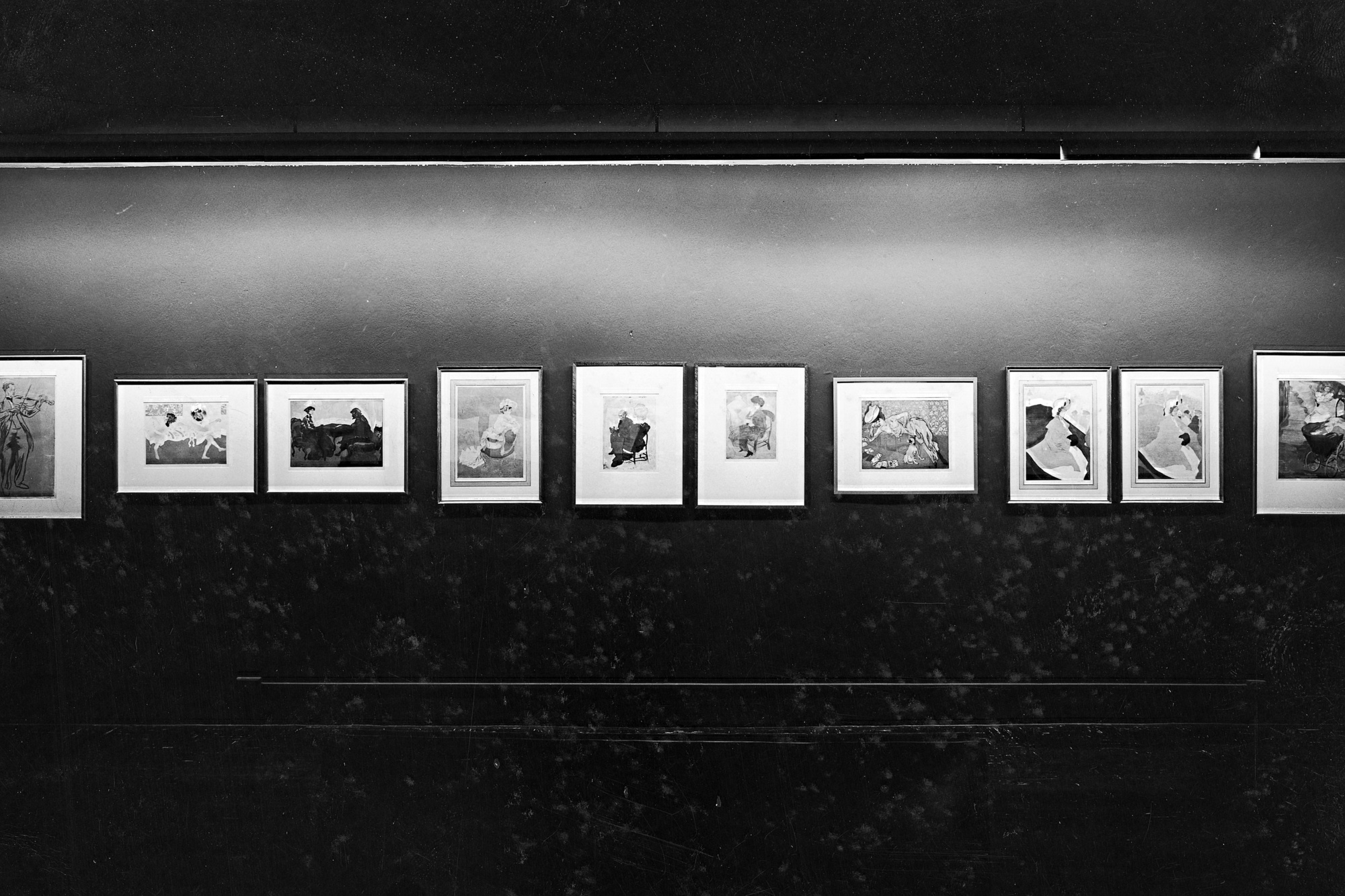 Installation view of Jacques Villon: His Graphic Art at The Museum of Modern Art, New York. Photo: Soichi Sunami