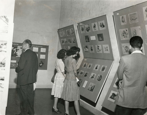 Installation view of *Bambi: The Making of an Animated Sound Picture* at The Museum of Modern Art, New York