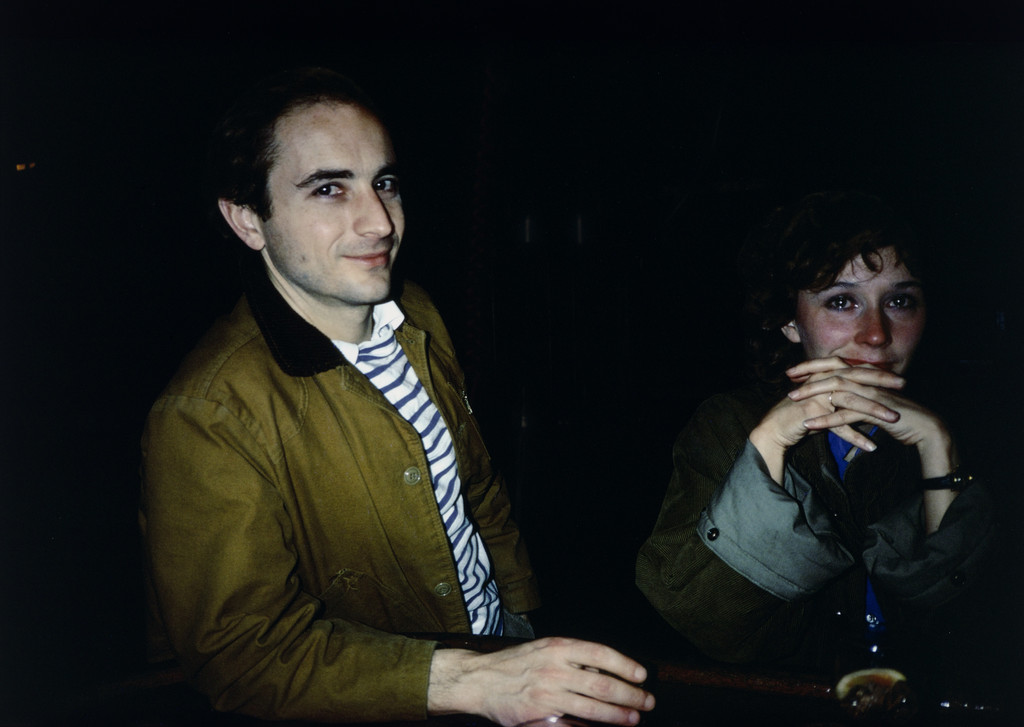 "Nan Goldin. *David and Butch Crying at Tin Pan Alley, New York City.* 1981. Silver dye bleach print, printed 2009. 15 1/2 x 23 1/8"" (39.4 x 58.7 cm). The Museum of Modern Art, New York"
