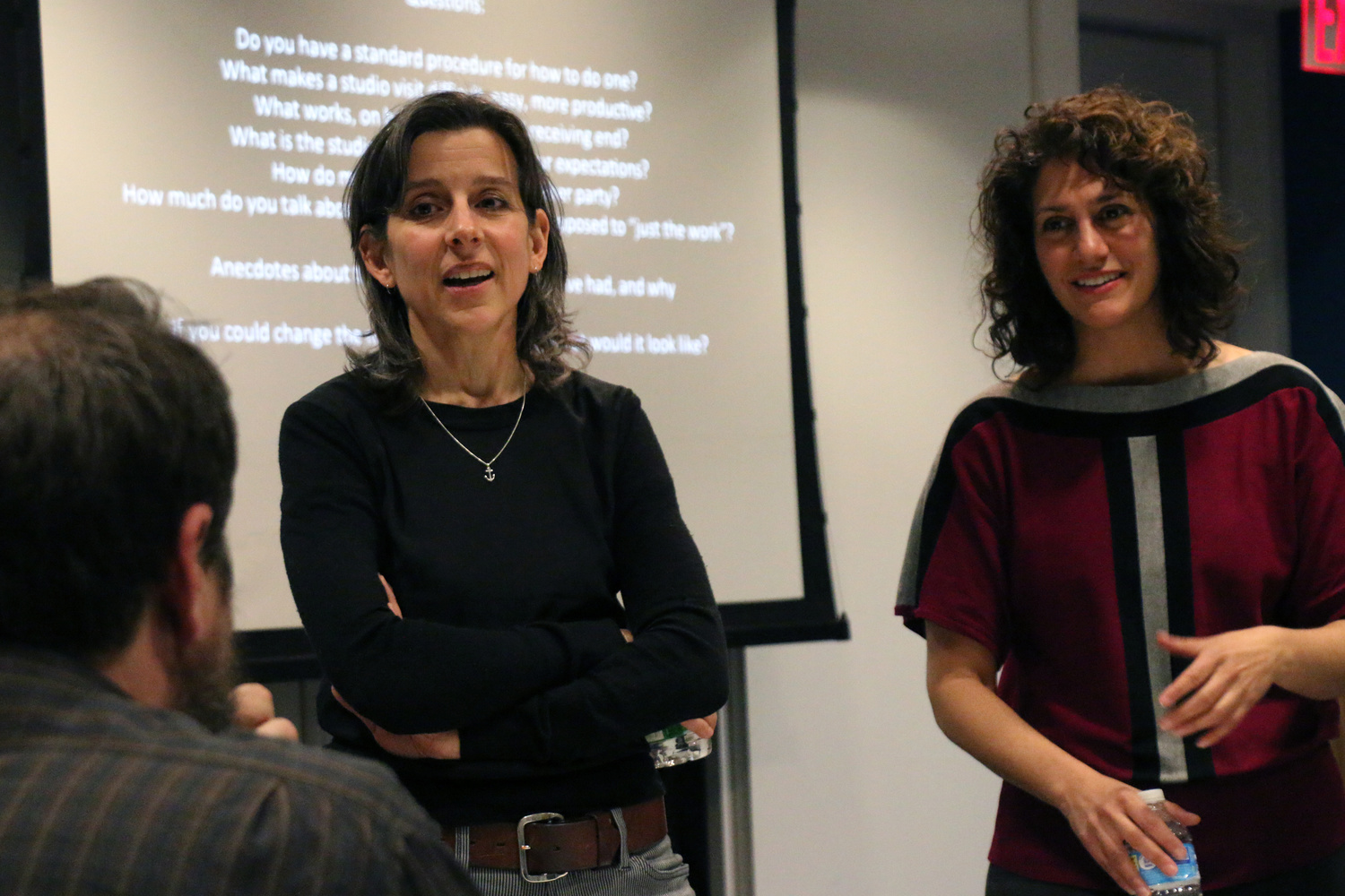 Art and Practice: Nina Katchadourian and Regine Basha, April 28, 2016, The Museum of Modern Art. Photo: Manuel Molina Martagon. © 2016 The Museum of Modern Art, New York