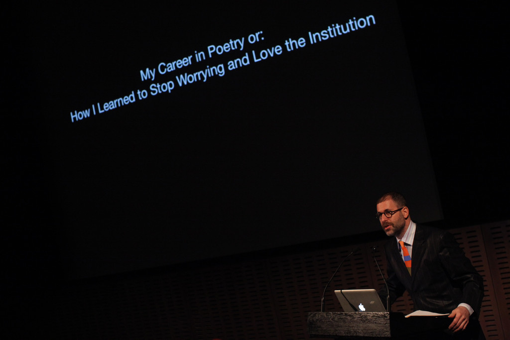 My Career in Poetry, or How I Learned to Stop Worrying and Love the Institution, March 20, 2013, The Museum of Modern Art. Photo: Paula Court. © 2016 The Museum of Modern Art, New York