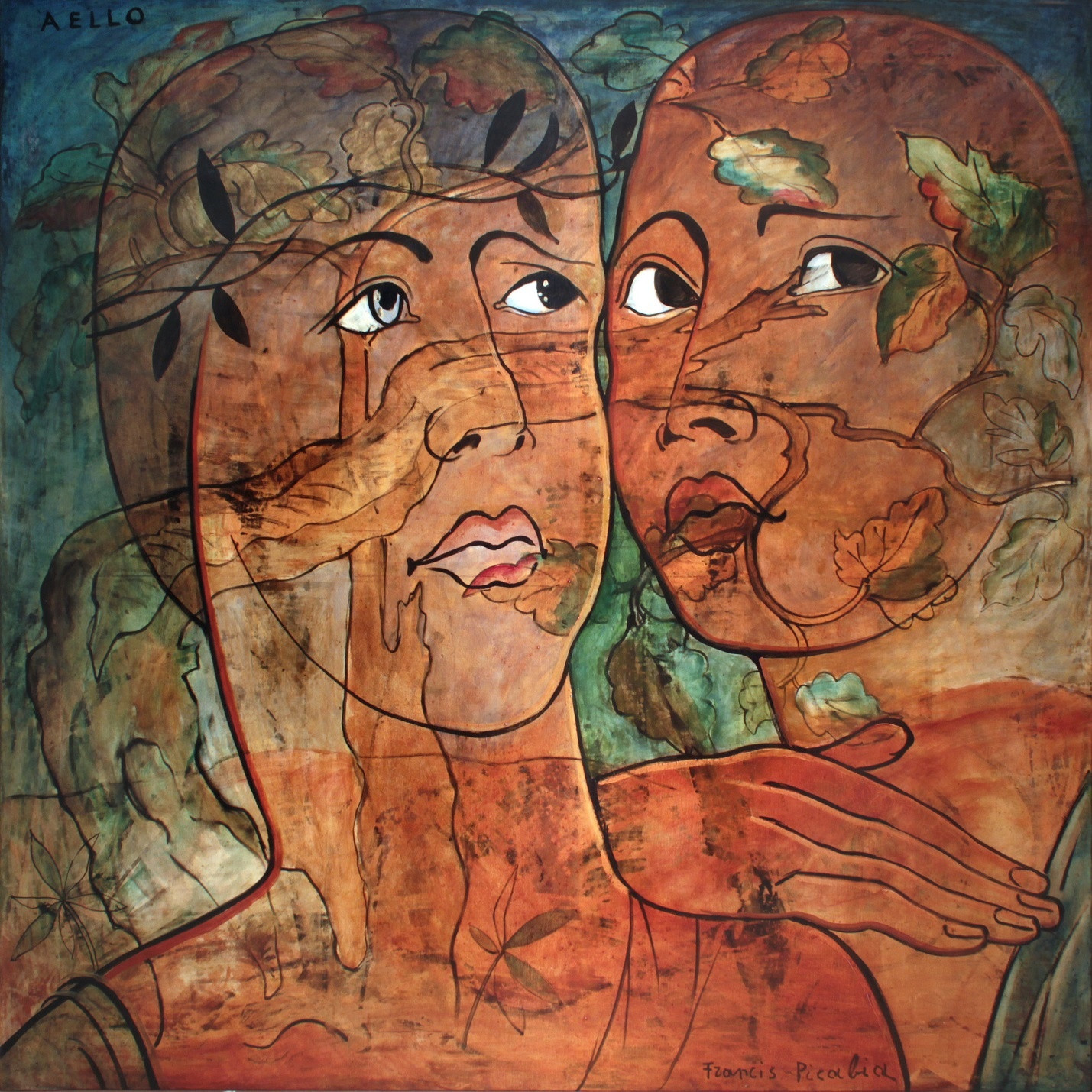 "Francis Picabia. Aello. 1930. Oil on canvas, 66 9/16 × 66 9/16"" (169 × 169 cm). Private collection. © 2016 Artist Rights Society (ARS), New York/ADAGP, Paris"