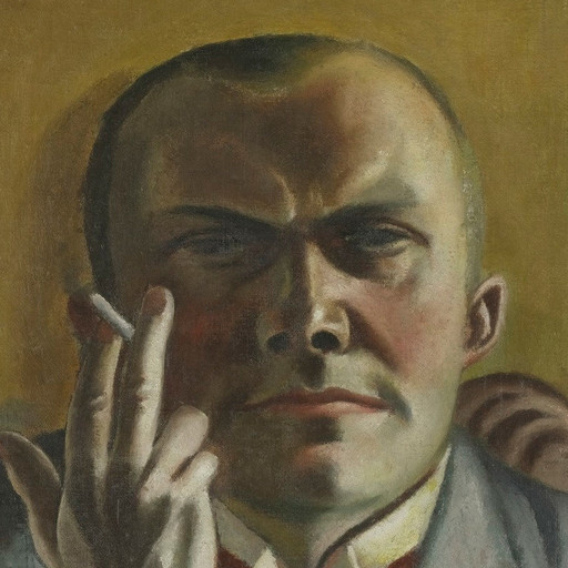 "Max Beckmann. Self-Portrait with a Cigarette. 1923. Oil on canvas, 23 3/4 × 15 7/8"" (60.2 × 40.3 cm). Gift of Dr. and Mrs. F. H. Hirschland. © 2016 Artists Rights Society (ARS), New York / VG Bild-Kunst, Bonn"