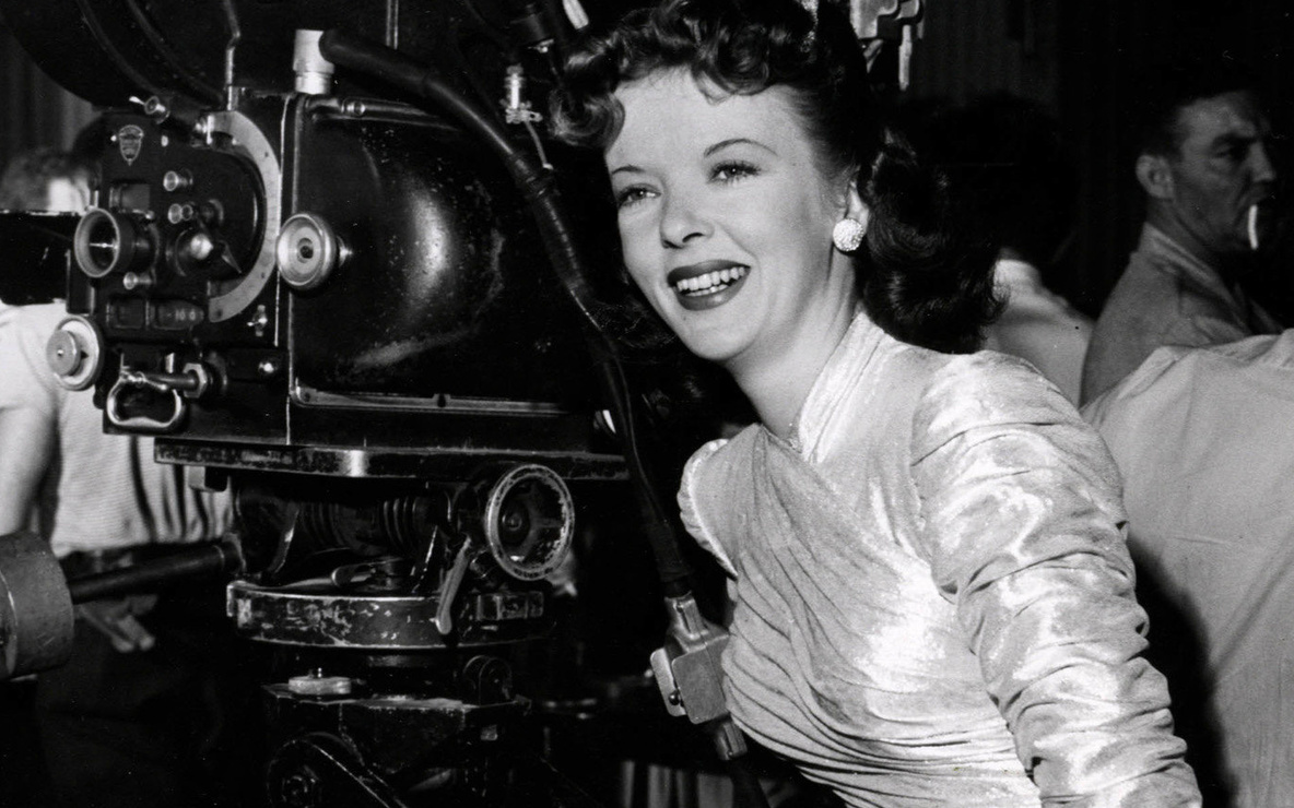 Ida Lupino on the set of *The Man I Love* (1946)
