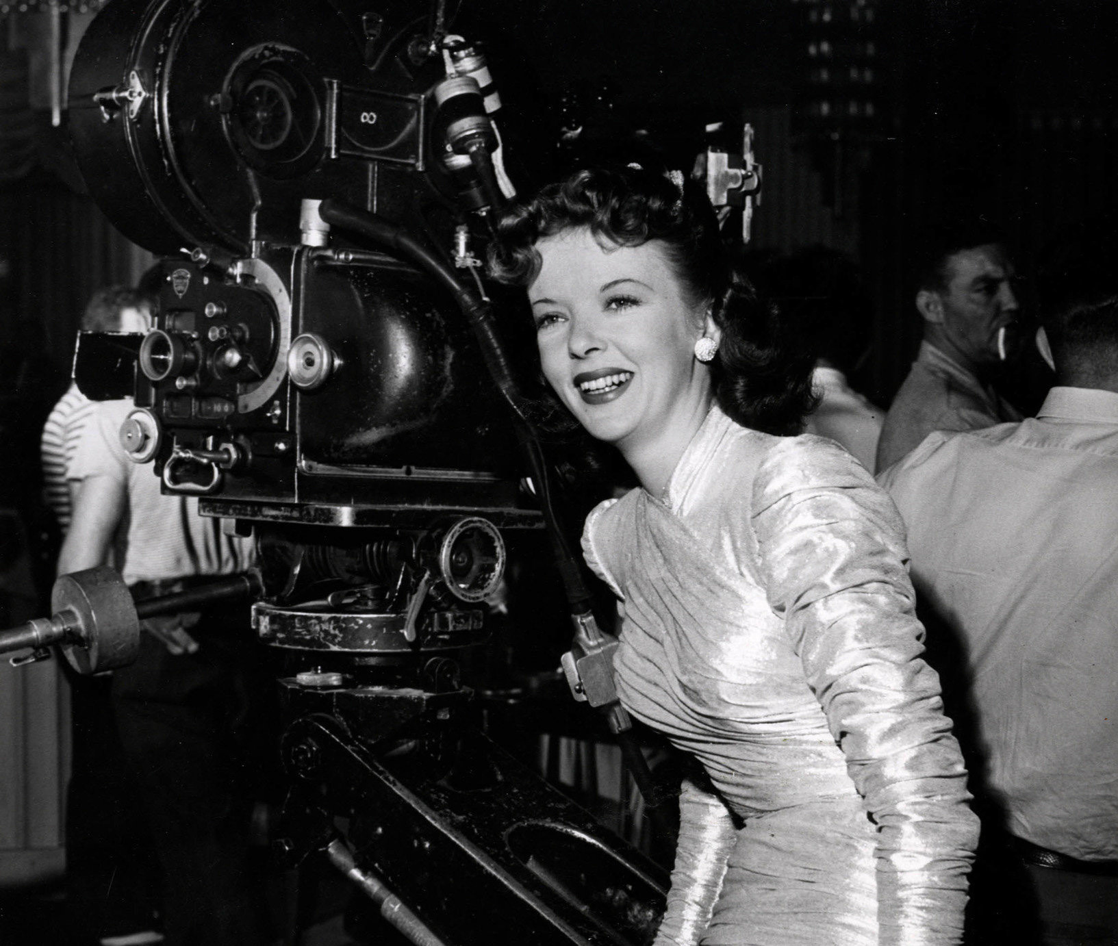 Ida Lupino on the set of The Man I Love (1946)