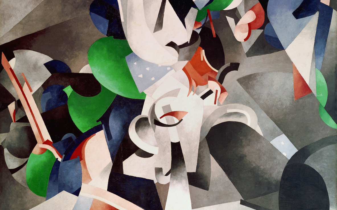 Francis Picabia (French, 1879–1953). *Je revois en souvenir ma chère Udnie (I See Again in Memory My Dear Udnie).* 1914. Oil on canvas, 8′ 2 1/2″ × 6′ 6 1/4″ (250.2 × 198.8 cm). The Museum of Modern Art, New York. Hillman Periodicals Fund. © 2016 Artists Rights Society (ARS), New York/ADAGP, Paris. Photo: The Museum of Modern Art, John Wronn