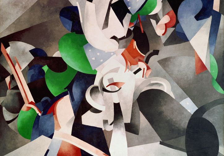 Francis Picabia (French, 1879–1953). Je revois en souvenir ma chère Udnie (I See Again in Memory My Dear Udnie). 1914. Oil on canvas, 8′ 2 1/2″ × 6′ 6 1/4″ (250.2 × 198.8 cm). The Museum of Modern Art, New York. Hillman Periodicals Fund. © 2016 Artists Rights Society (ARS), New York/ADAGP, Paris. Photo: The Museum of Modern Art, John Wronn