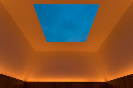 James Turrell. <em>Meeting.</em> 1980–86/2016. Light and space. The Museum of Modern Art, New York. Gift of Mark and Lauren Booth in honor of the 40th anniversary of MoMA PS1. Photo: Pablo Enriquez