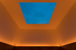 James Turrell. Meeting. 1980–86/2016. Light and space. The Museum of Modern Art, New York. Gift of Mark and Lauren Booth in honor of the 40th anniversary of MoMA PS1. Photo: Pablo Enriquez