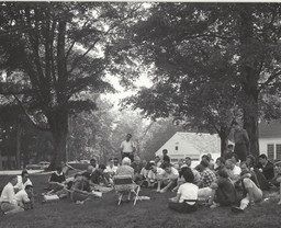 The Robert Flaherty Film Seminar at the Flaherty Farm in Vermont circa 1950s (Flaherty at MoMA: Turning the Inside Out, June 21 – 30, 2014). Courtesy the Flaherty Seminar