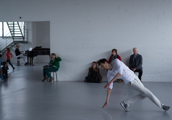 Anne Teresa De Keersmaeker. Work/Travail/Arbeid. 2015. Installation view, WIELS centre for contemporary art, Brussels, March 20–May 17, 2015. © 2016 Anne Teresa De Keersmaeker. Photo: Anne Van Aerschot
