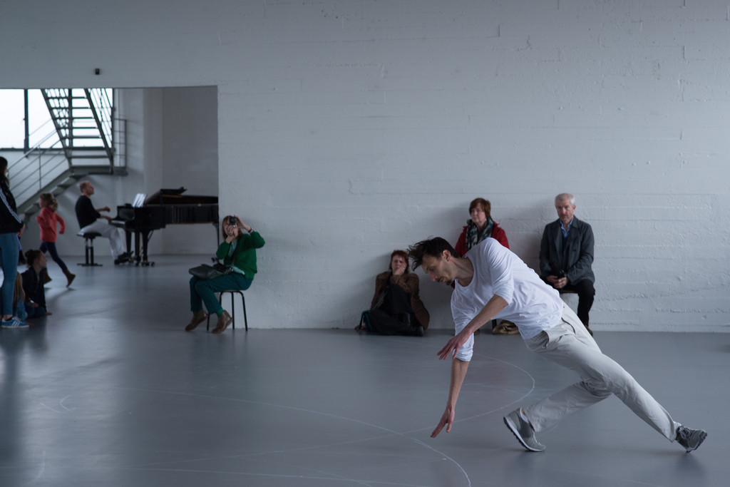 Anne Teresa De Keersmaeker. *Work/Travail/Arbeid.* 2015. Installation view, WIELS centre for contemporary art, Brussels, March 20–May 17, 2015. © 2016 Anne Teresa De Keersmaeker. Photo: Anne Van Aerschot