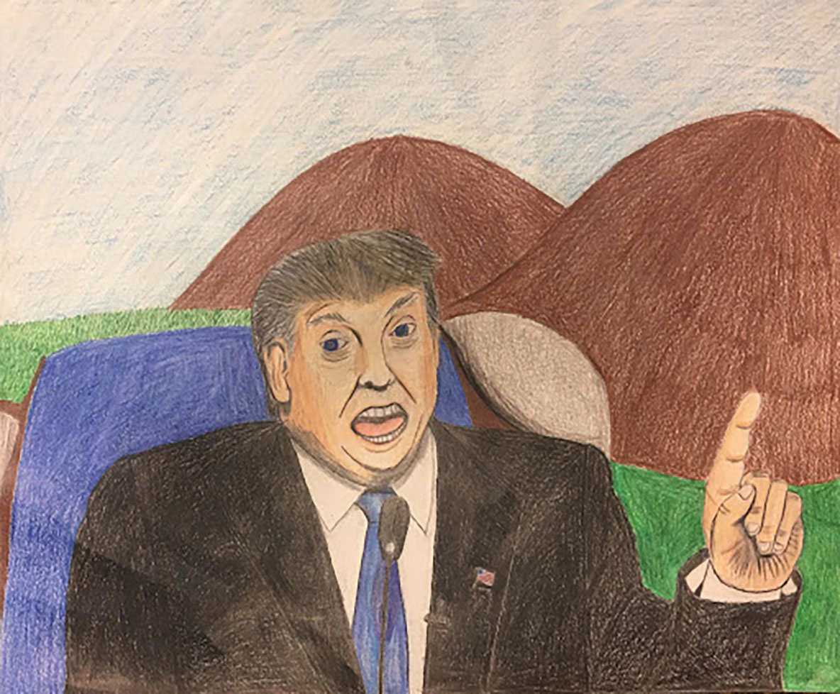 Sammy Ho. *Donald Trump*. 2016. Pencil on paper. Courtesy of the artist