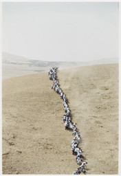 Francis Alÿs. Untitled, from *When Faith Moves Mountains*. 2002. Color photograph. The Museum of Modern Art, New York. Gift of The Speyer Family Foundation, Kathy and Richard S. Fuld, Jr., Marie-Josée and Henry R. Kravis, Patricia Phelps de Cisneros, Anna Marie and Robert F. Shapiro, The Julia Stoschek Foundation, Düsseldorf, and Committee on Media Funds. © 2011 Francis Alÿs