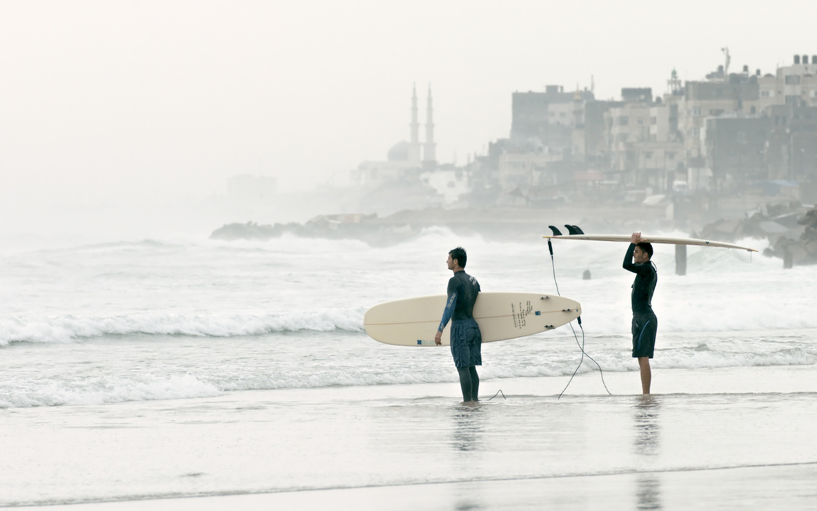 *Gaza Surf Club.* 2016. Germany. Directed by Philip Gnadt, Mickey Yamine. Courtesy of Little Bridge Pictures