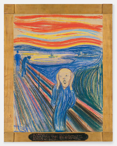 Edvard Munch. <em>The Scream.</em> Pastel on board. 1895. &copy; 2012 The Munch Museum/The Munch-Ellingsen Group/Artists Rights Society (ARS), New York
