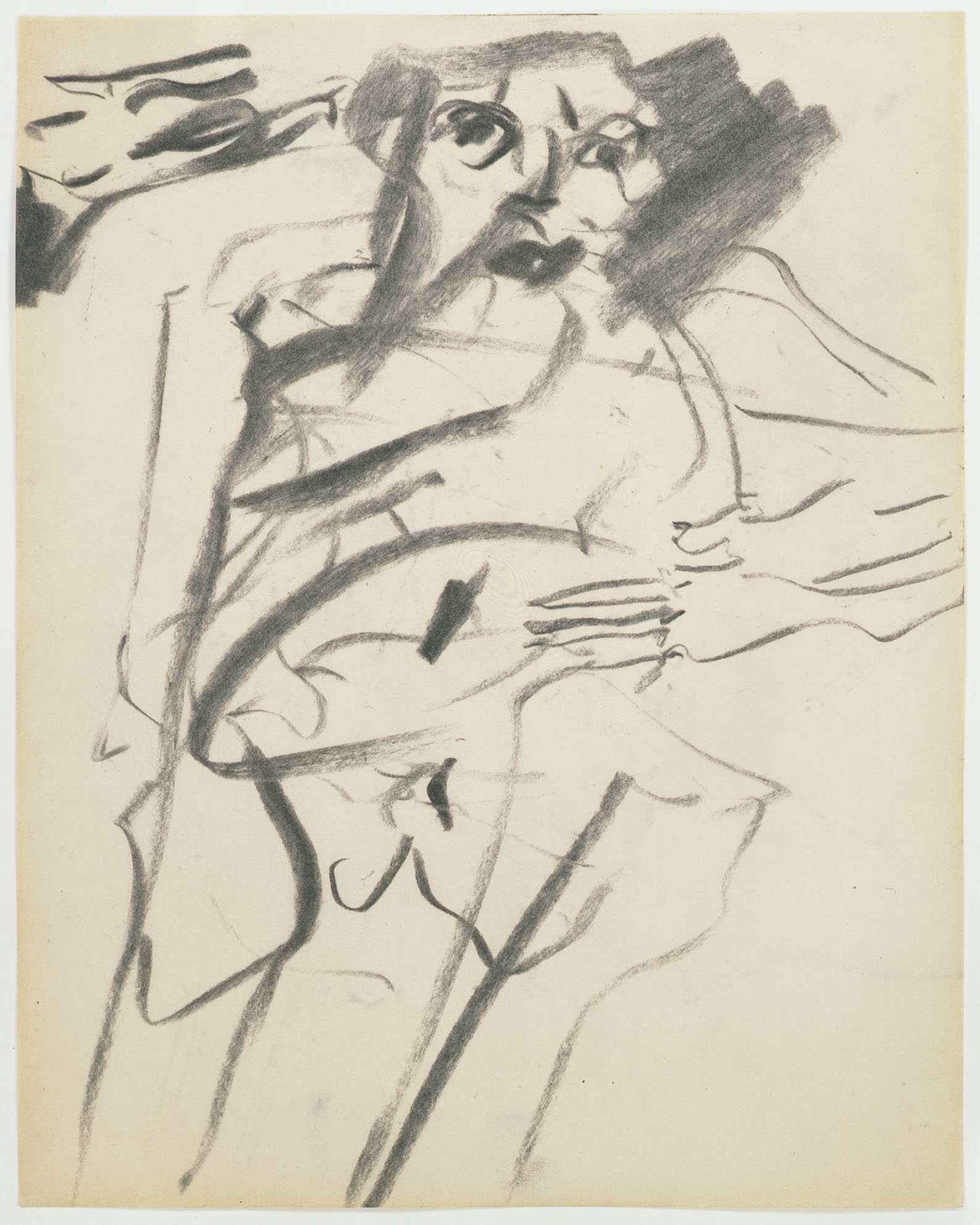 "Willem de Kooning. Untitled. 1966. Charcoal on paper, 10 x 8"" (25.4 x 20.3 cm). Gift of Jan Christiaan Braun in honor of Rudi Fuchs. © 2012 The Willem de Kooning Foundation/Artists Rights Society (ARS), New York"