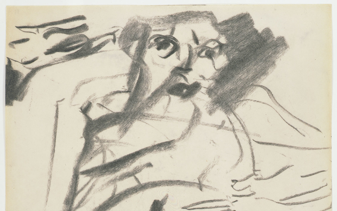 "Willem de Kooning. *Untitled*. 1966. Charcoal on paper, 10 x 8"" (25.4 x 20.3 cm). Gift of Jan Christiaan Braun in honor of Rudi Fuchs. © 2012 The Willem de Kooning Foundation/Artists Rights Society (ARS), New York"