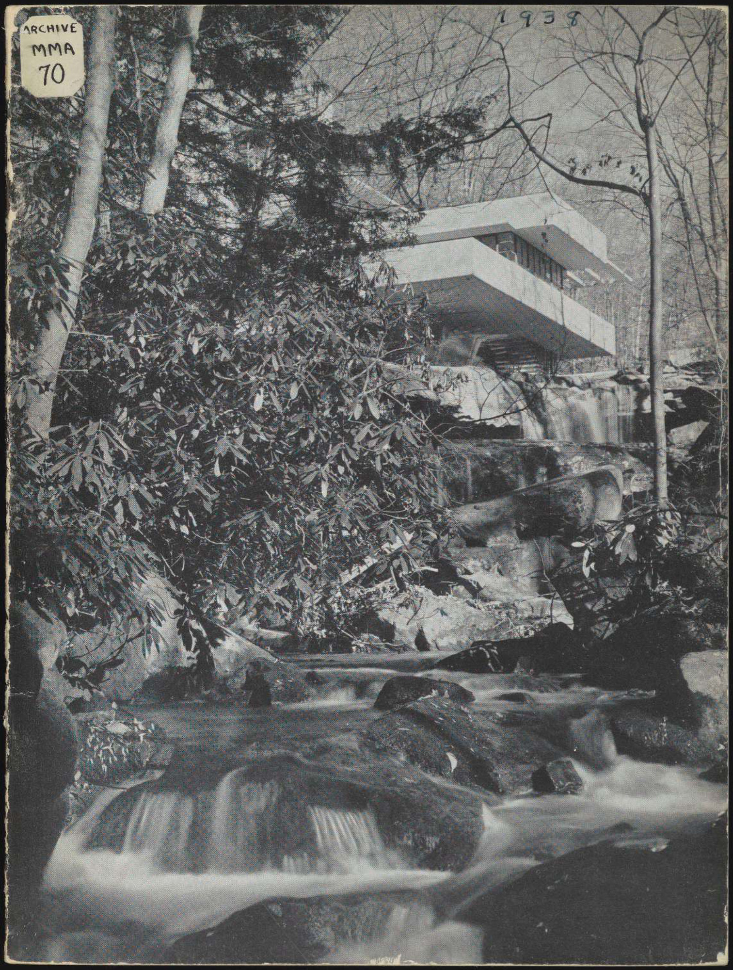 Cover of A new house by Frank Lloyd Wright on Bear Run, Pennsylvania (New York: The Museum of Modern Art, 1938)