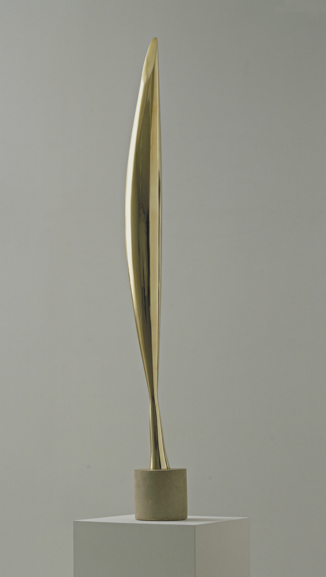 Constantin Brancusi (French, born Romania. 1876–1957). Bird in Space. 1928. Bronze, 54 × 8 1/2 × 6 1/2″ (137.2 × 21.6 × 16.5 cm). Given anonymously. © 2017 Artists Rights Society (ARS), New York/ADAGP, Paris