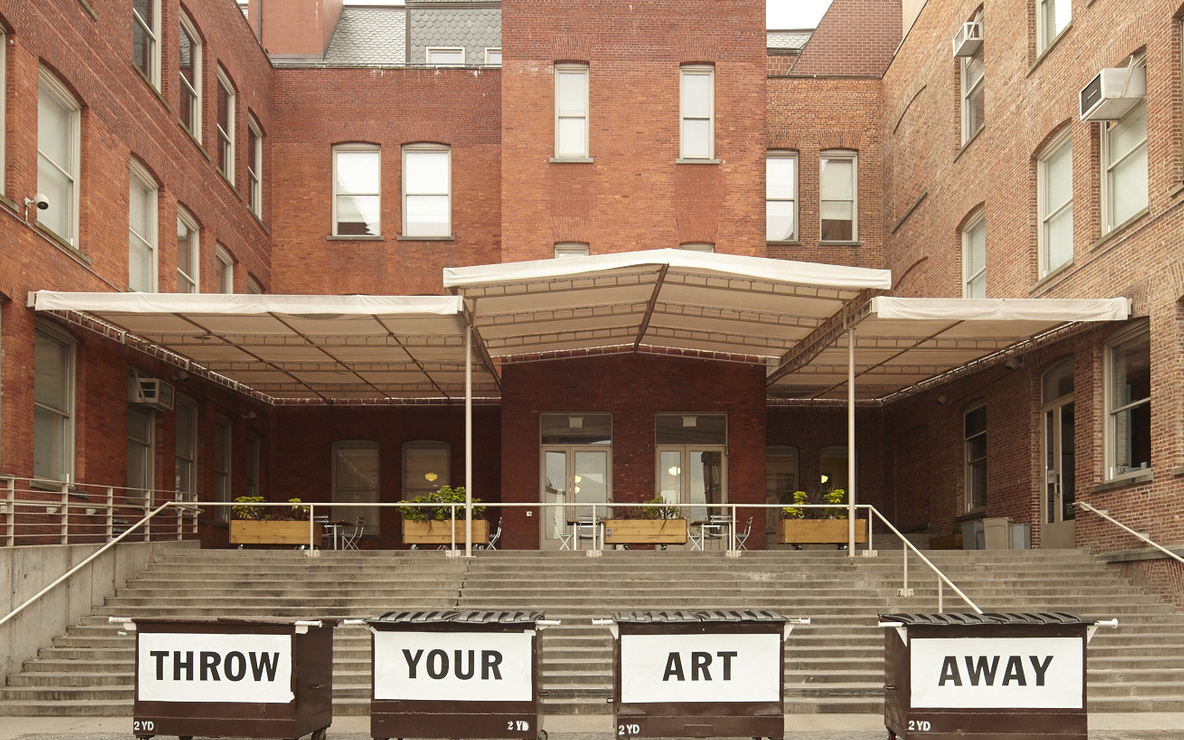 Installation view of *Bob and Roberta Smith: Art Amnesty* at MoMA PS1, October 26, 2014–March 16, 2015. Photo: Matthew Septimus