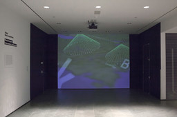 Muriel Cooper, David Small, Suguru Ishizaki, Earl Rennison, Robert Silvers, Lisa Strausfeld, Jeffrey Ventrella, Yin Yin Wong. *Information Landscapes.* 1994. Multimedia video and software with audio. Installation view, The Museum of Modern Art, May 13–June 12, 2016. Gift of Lisa Strausfeld and David Small. Photo: John Wronn