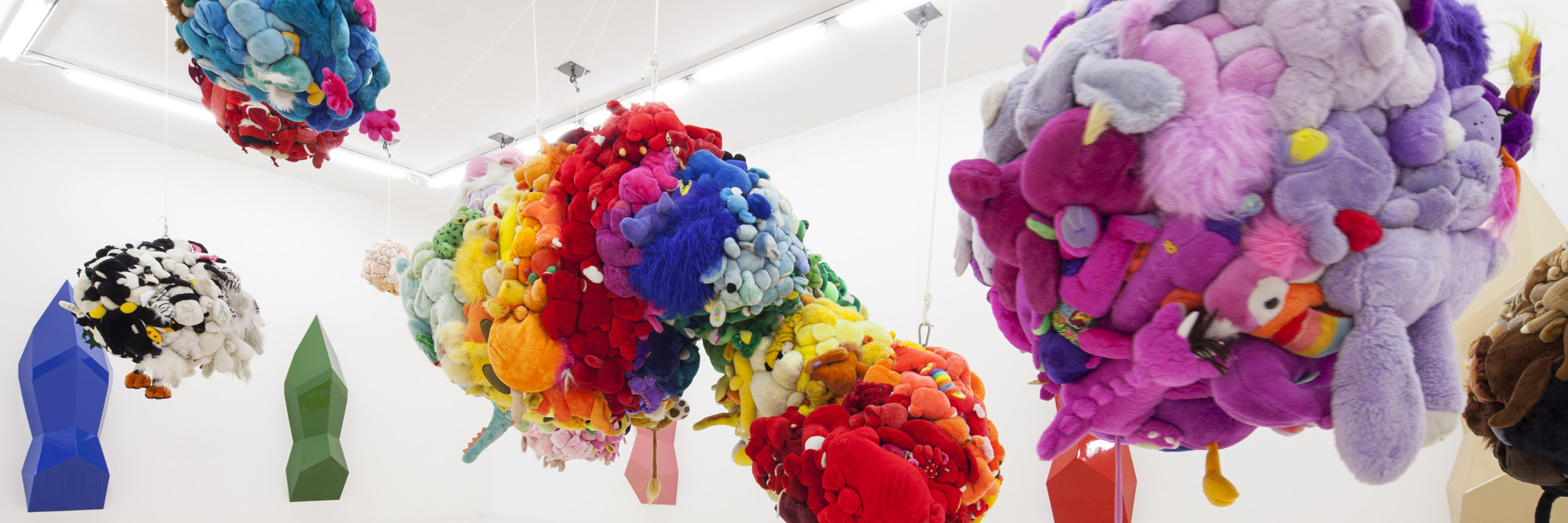 Installation view, Mike Kelley at MoMA PS1, October 13, 2013–February 2, 2014. Photo: Matthew Septimus