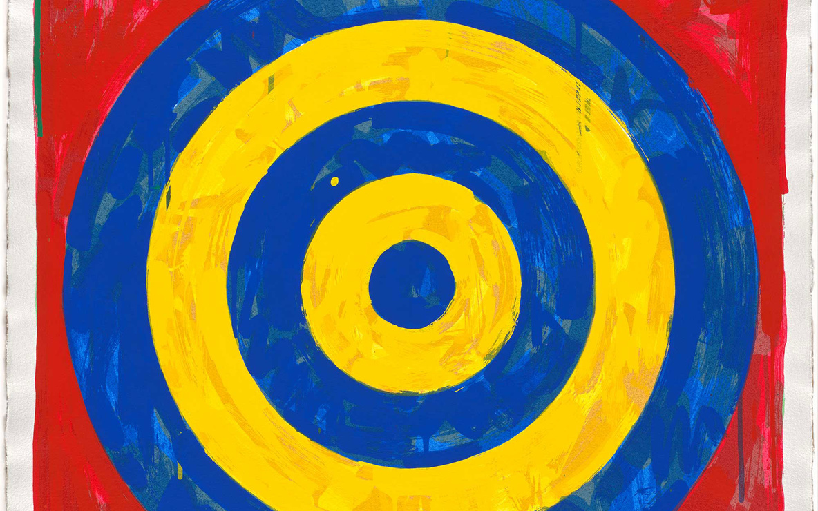 Jasper Johns. *Target*. 1974, Screenprint. Publisher: the artist and Simca Print Artists Inc., New York. Printer: Simca Print Artists Inc., New York. Edition: proof outside the edition of 70. © 2017 Jasper Johns/Licensed by VAGA, New York