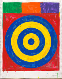 Jasper Johns. Target. 1974, Screenprint. Publisher: the artist and Simca Print Artists Inc., New York. Printer: Simca Print Artists Inc., New York. Edition: proof outside the edition of 70. © 2017 Jasper Johns/Licensed by VAGA, New York