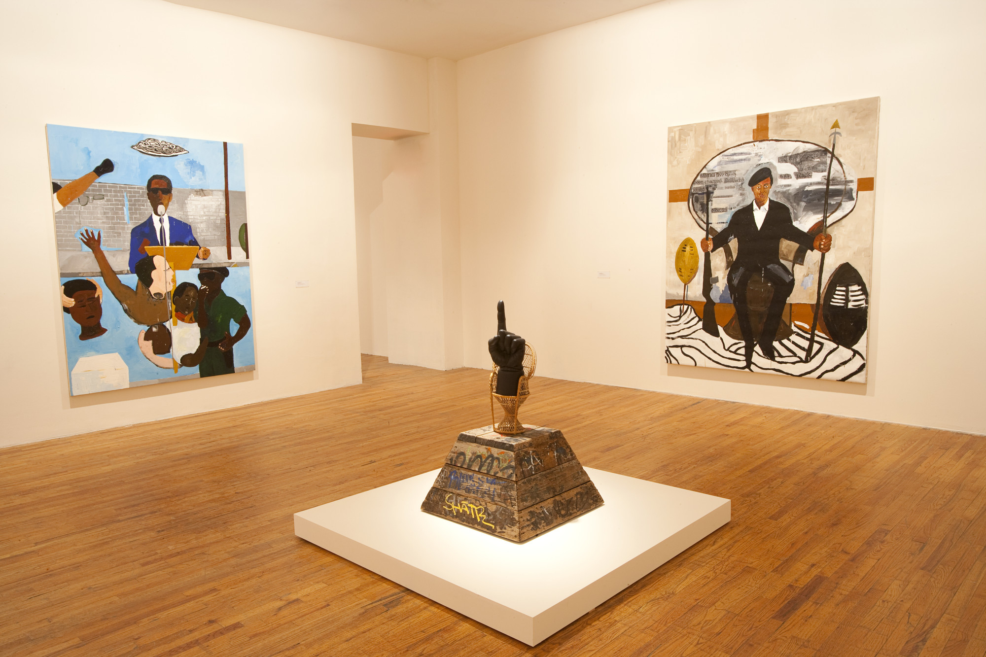 Installation view of Henry Taylor at MoMA PS1, January 29–April 9, 2012. Photo: Matthew Septimus