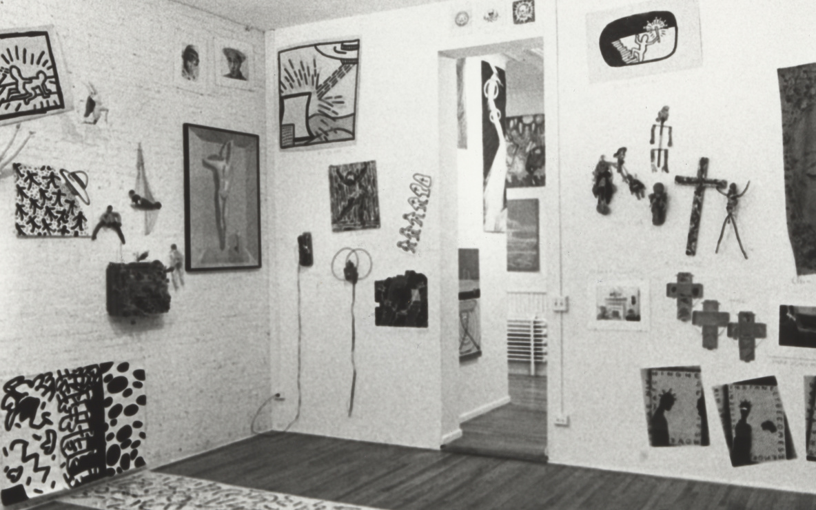 Installation view of the exhibition *New York/New Wave*, P.S.1 Contemporary Art Center, 1981. MoMA PS1 Archives, III.A.18. The Museum of Modern Art Archives, New York