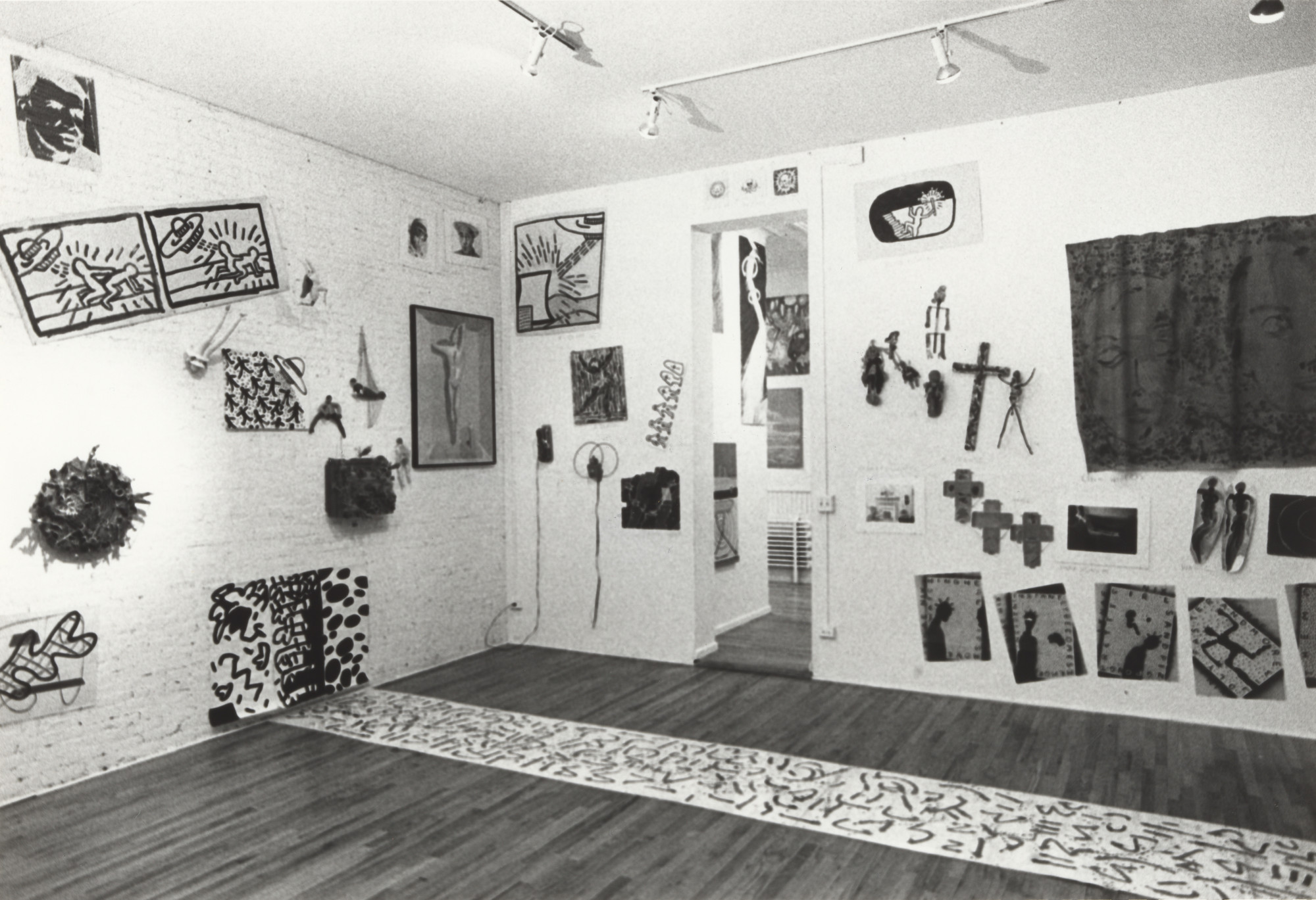 Installation view of the exhibition New York/New Wave, P.S.1 Contemporary Art Center, 1981. MoMA PS1 Archives, III.A.18. The Museum of Modern Art Archives, New York