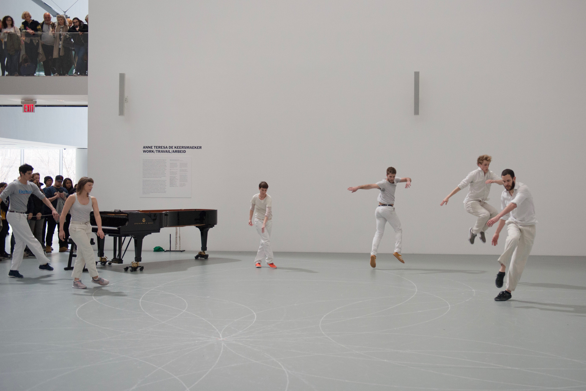 Anne Teresa De Keersmaeker. Work/Travail/Arbeid. 2015. Installation view, The Museum of Modern Art, March 29, 2017. © 2017 Anne Teresa De Keersmaeker. Photo: Anne Van Aerschot