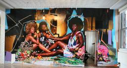 Installation view of *On-site 3: Mickalene Thomas* at MoMA PS1, February 26–May 10, 2010. Photo: Brett Messenger