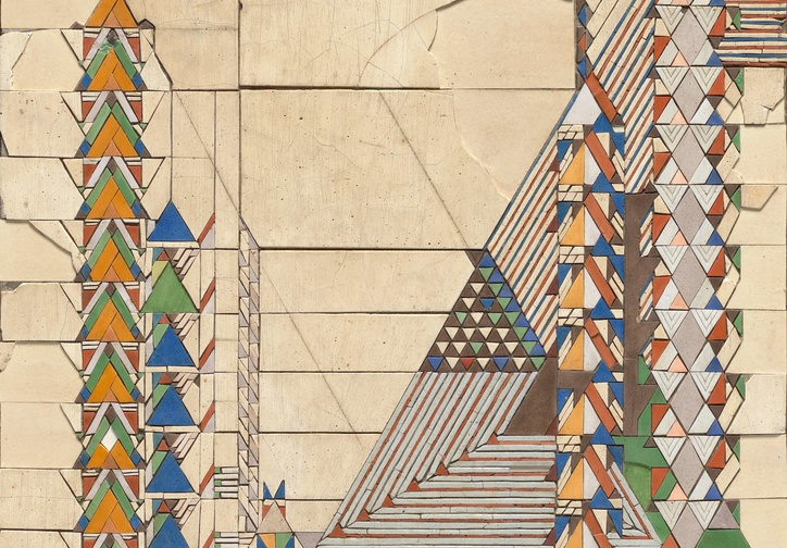 Frank Lloyd Wright. Triangles in Color/September. c. 1929. Tile mosaic. The Frank Lloyd Wright Foundation Archives (The Museum of Modern Art | Avery Architectural & Fine Arts Library, Columbia University, New York)
