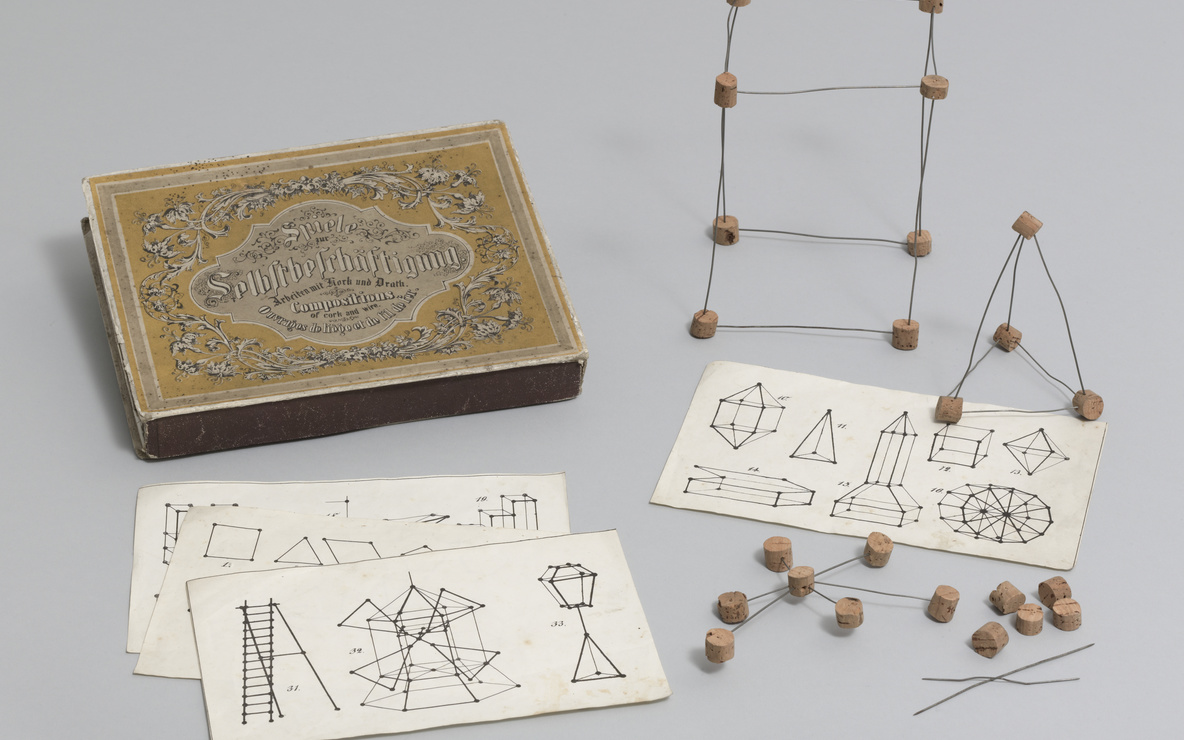 Unknown artist. Gift 18: Peas work (kindergarten material based on the educational theories of Friedrich Froebel). c. 1880–1900. Various materials. The Museum of Modern Art, New York. Gift of Lawrence Benenson