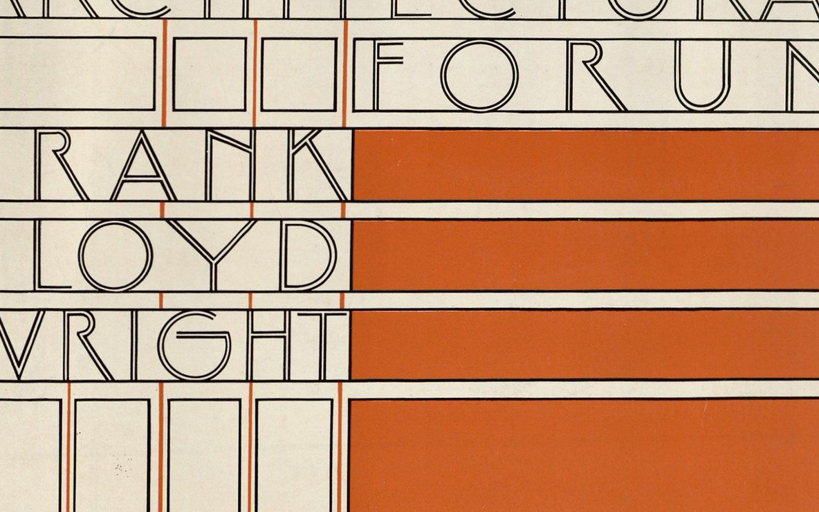 Detail of the cover of *Architectural Forum* vol. 68, no. 1 (January 1938)