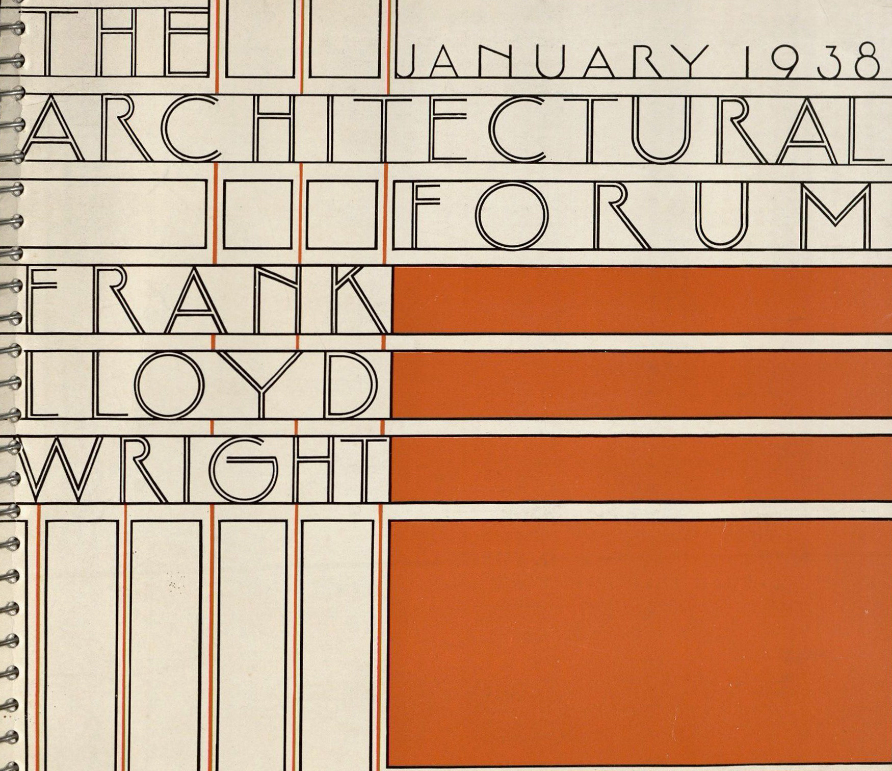 Detail of the cover of Architectural Forum vol. 68, no. 1 (January 1938)